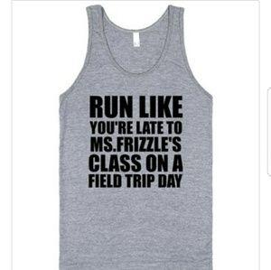 Run Like Ms Frizzles Class Magic School Bus Tank
